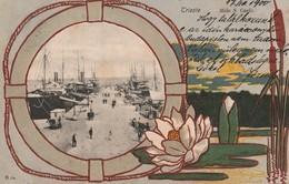 TRIESTE D'EPOCA,MOLO S. CARLO FORMATO PICCOLO ANNO 1900 VIAGGIATA - Trieste