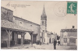 """CPA - 85 - VENDEE - SAINT MICHEL EN L'HERM """" L'entrée, Route D'Aiguillon """" - Saint Michel En L'Herm"""