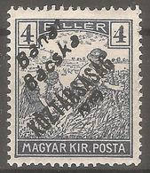 1919 - Banat I Bacska Pretisak 4 Fil MNH - 1919-1929 Regno Dei Serbi, Croati E Sloveni