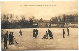 Flers NA1: Patinage Sur L'Etang De L'Hôtel De Ville En 1914 - Flers
