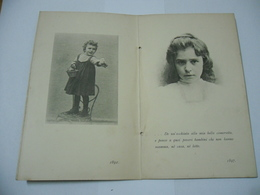 VECCHIO BIGLIETTO DI AUGURI MARIUCCIA 1891 1897 . - Altre Collezioni