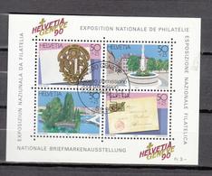1990  EMISSIONS AVEC SURTAXE   BLOC  N°72   OBLITERE      CATALOGUE ZUMSTEIN - Blocks & Kleinbögen