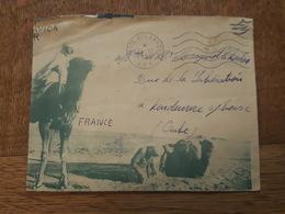 Guerre D'Algérie - Franchise Militaire, Cachet Poste Aux Armées AFN Par Avion - Pour Vendeuvre Sur Barse, Env. Illustrée - Postmark Collection (Covers)