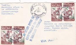 ENVELOPPE CIRCULEE 1971 GUATEMALA A ARGENTINE STAMP A PAIR AUTRES MARQUES- BLEUP - Guatemala