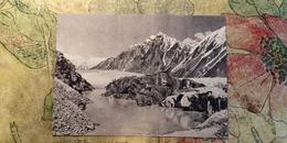 TAJIKISTAN -  Pamir Mountains - Glacier Lake - Old Soviet Postcard 1956 Mountaineering Alpinisme - Tadjikistan