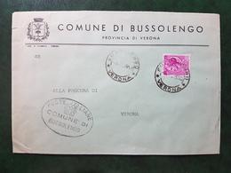 (4523) ITALIA STORIA POSTALE 1958 - 6. 1946-.. Repubblica