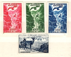 Andorre Poste Aérienne YT N° 1/4 Neufs *. B/TB. A Saisir! - Luftpost