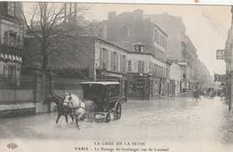 75 Paris. Crue De La Seine. Le Passage Du Boulanger; Rue De Lourmel - Sonstige