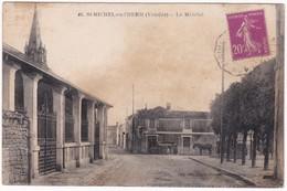 """CPA - 85 - VENDEE - SAINT MICHEL EN L'HERM """" Le Marché """" - Saint Michel En L'Herm"""