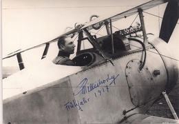 Aviation - Aviateur Vaudois Henri Pillichody - Autographe Original - 1917 - Aviation