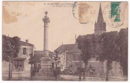 """CPA - 85 - VENDEE - SAINT MICHEL EN L'HERM """" La Place De La Mairie """" - Saint Michel En L'Herm"""