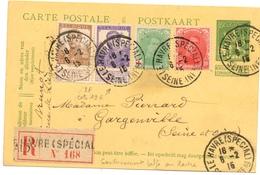 Carte Postale Du Bureau Spécial Du Havre 6/2/1915 Recommandé Très Bon état Texte Intéressant - Marcophilie