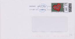 Toshiba 38296A Date Non Valide Du 11-05-13 (timbre En Ligne Coeur Bonne Fête Papa)) - Marcophilie (Lettres)