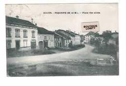 54 Pexonne Place Des Alliés Fontaine Cpa Cachet 1935 - Francia