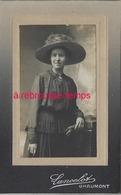 CDV En 1917-femme Au Très Beau Chapeau-photo Lancelot à Chaumont - Photos