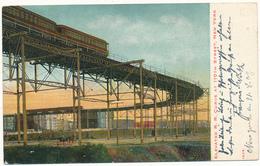 NY - NEW YORK CITY - Elevated R.R. Curve - Transports
