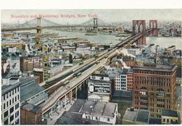 NY - NEW YORK CITY - Brooklyn And Manhattan Bridges - Ponts & Tunnels