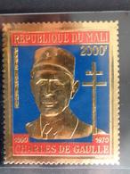 MALI 1971 P.A. Y&T N° 114  **  - CHARLES DE GAULLE ( 1890-1970 ) SUR FEUILLE D'OR - Malí (1959-...)