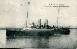 "N°66991 -cpa Le Havre -""Normannia"" Steamer De Southampton- - Commerce"
