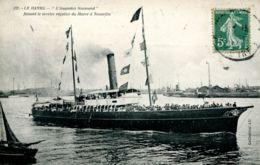 """N°66992 -cpa Le Havre -""""l'augustin Normand"""" Service Le Havre à Trouville- - Commerce"""