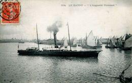"""N°66993 -cpa Le Havre -""""l'augustin Normand"""" Service Le Havre à Trouville- - Commerce"""
