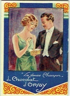 Calendrier Illustrateur.  Publicité, Chocolat D'Orsay/Sources Chevron. 1934. - Calendriers