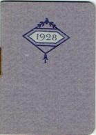 Calendrier Publicité. Sirop De Deschiens à L'Hémoglobine. 1928 - Calendriers