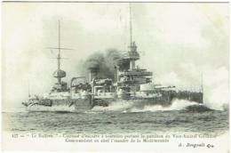 """""""Le Suffren"""".  Cuirassé D'Escadre Au Pavillon Du Vice-Amiral Gourdon. A.Bougault. - Guerra"""