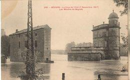34 - BÉZIERS - LA CRUE DE L'ORB (7 NOVEMBRE 1907) - LES MOULINS DE BAGNOLS - Beziers