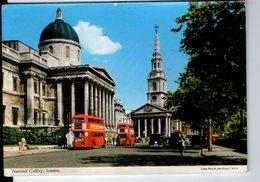 U3901 Postcard 1969 LONDON, NATIONAL GALLERY + BUS AUTOBUS, AUTO CARS VOITURES _ JOHN HIDE 2L18 - London
