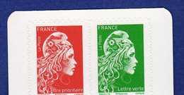 France Y&t : 2018 Marianne L'engagée - Lot De 2 Timbres Autoadhésifs Et 2 Timbres Gommés*** Issu Des Carnets. - 2018-... Marianne L'Engagée