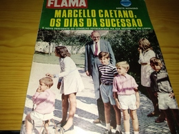 Revista Portuguesa, Magazine Portuguese- Flama, Marcelo Caetano, Os Dias Da Sucessão.- 1968 - Livres, BD, Revues