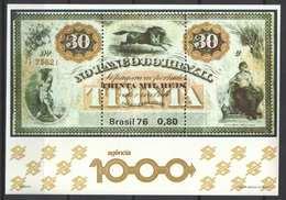 Brazil 1976. Money On Stamps Nice Sheet MNH (**) - Münzen