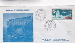 CHATEAU D'ENTRECASTEAUX TAAF-SPECIAL COVER 1984, VAR, FRANCE, TERRES AUSTRALES ET ANTARTIQUES FRANÇAISES- BLEUP - Franse Zuidelijke En Antarctische Gebieden (TAAF)