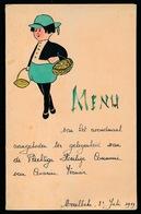 MENU 16 X 11 Cm  - AVONDMAAL PLECHTIGE H.COMMUNIE C.VERMEIR 1939 - HANDGEMAAKT  - 2 SCANS - Menus