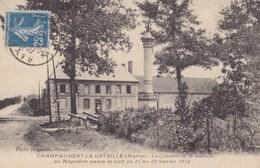 CHAMPAUBERT LA BATAILLE - La Colonne Et La Maison Où Napoléon Passa La Nuit............. - Francia