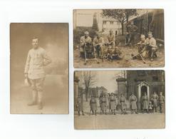 Lot 3 Cartes-photo Militaires - Première Guerre Mondiale. Lot Van 3 Fotokaarten - Eerste Wereldoorlog. - Oorlog 1914-18