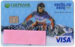 Russia  VISA  Card  Sberbank - Cartes De Crédit (expiration Min. 10 Ans)