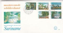 MEESTERS VAN DE SCHILDERKUNST-FDC 1981 SURINAME 5 DIFFERENT STAMPS- BLEUP - Suriname
