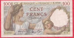 """100 Francs """"Sully"""" Du 06/02/1941.BJ ----XF/SUP+---Série X.18729 - 1871-1952 Anciens Francs Circulés Au XXème"""