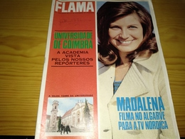 """Revista Portuguesa, Magazine Portuguese- Flama, """"Universidade De Coimbra,A Academia Vista Pelos Nosso Reporteres"""".- 1967 - Revues & Journaux"""