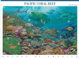 US 2004 Sheet PACIFIC CORAL REEF Marine Life Nature Of America,Scott # 3831,VF-XF MNH** - Sheets