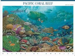 US 2004 Sheet PACIFIC CORAL REEF Marine Life Nature Of America,Scott # 3831,VF-XF MNH**,Self-Adhesive - Marine Life