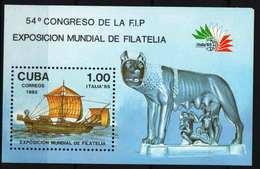 Cuba 1985. Stamp Exhibition, Transport Ships Sheet MNH (**) - Kuba