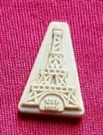 Fèves Fève Ancienne Tour Eiffel Blanc Mat - Olds