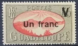 N° 168 - UN FRANC Sur 65c Noir Et Rouge - Neuf Sans Charnières ** MNH - Nuovi