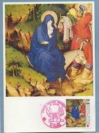 FRANCE N° 2498 (YT) CROIX ROUGE LA FUITE EN EGYPTE MUSEE DIJON  FDC 1987 SUR CP Voir R/V - Storia Postale