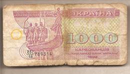 Ucraina - Banconota Circolata Da 1000 Karbovanets P-91a - 1992 - Ucraina