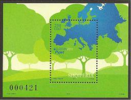 "ALBANIA - EUROPA 2011 - TEMA ANNUALE ""LE FORESTE '.- FOGLIETTI  - Logo EUROPA - 2011"