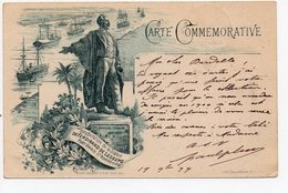 CARTE COMMEMORATIVE - Inauguration De La Statue De FERDINAND De LESSEPS En 1899 à Port-Saïd - Port-Saïd